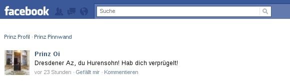 Facebook-Profil von Tobias Maczewski - 19.2.2011