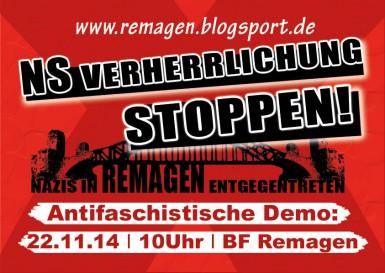 NS-Verherrlichung stoppen! | 22.11.2014 | Remagen