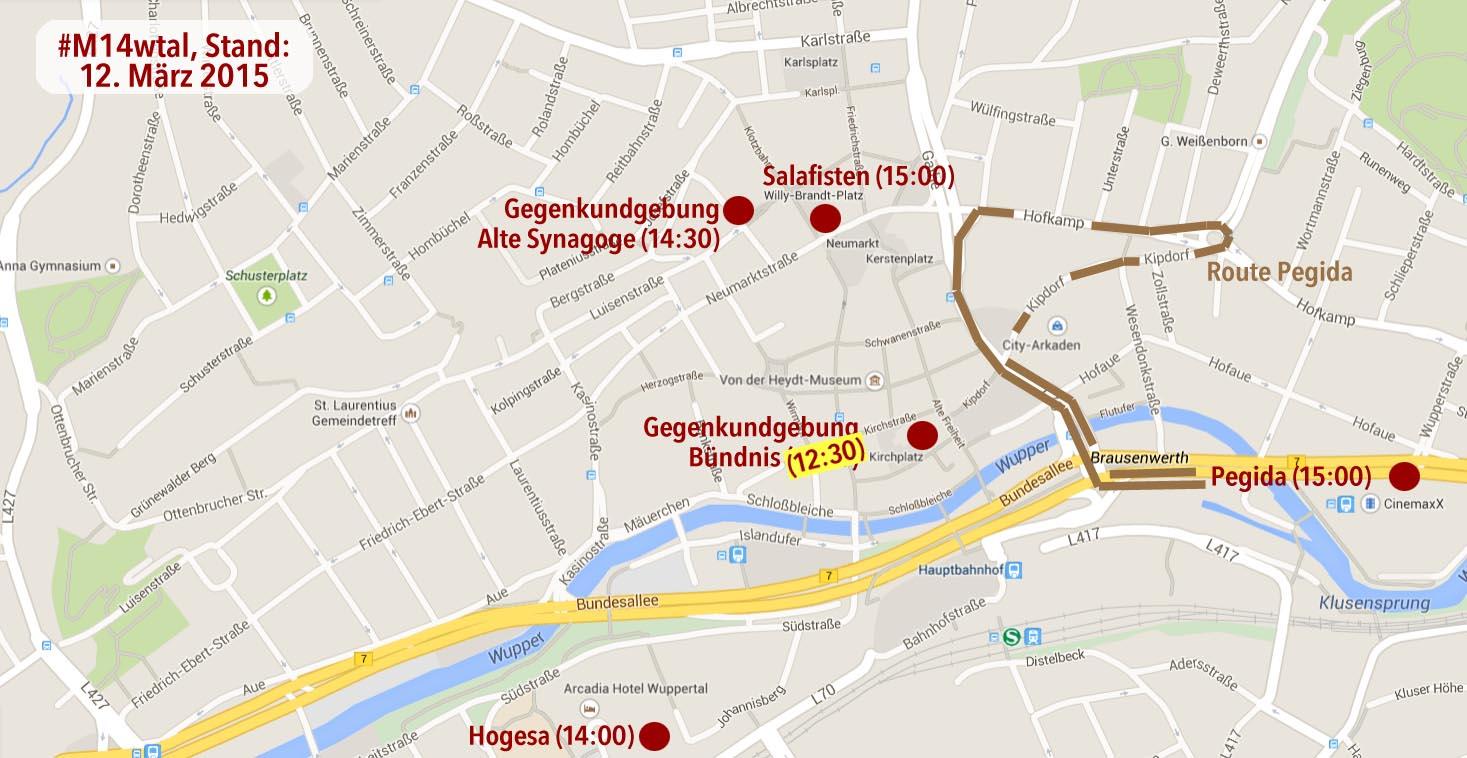 Übersicht - Wuppertal-Elberfeld - 14.03.2015