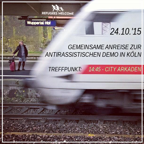 Gemeinsame Anreise aus Wuppertal zur antirassistischen Demo am 24.10.
