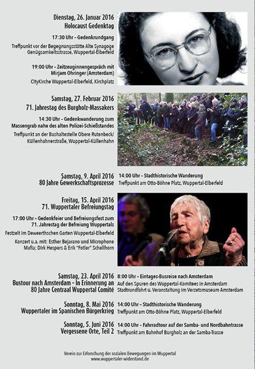Veranstaltungsvorschau - Wuppertal - 2016