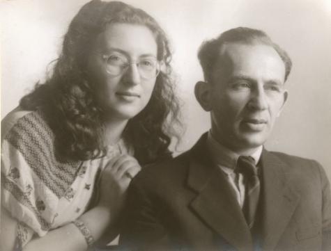 Holocaust-Überlebende und Widerstandskämpferin Mirjam Ohringer und ihr Vater