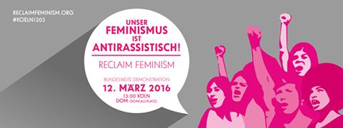 Make feminism a thread again! | Bundesweite Demo 12. März | 13 Uhr | Roncalliplatz Köln