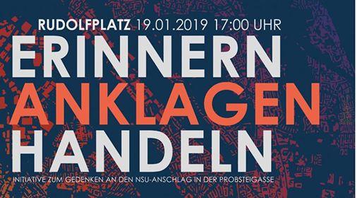 Samstag, 19.01.2019 | 17 Uhr | Rudolfplatz